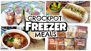 DUMP AND GO Crock Pot FREEZER MEALS | 8 Easy Dinners | Fall Food Friday