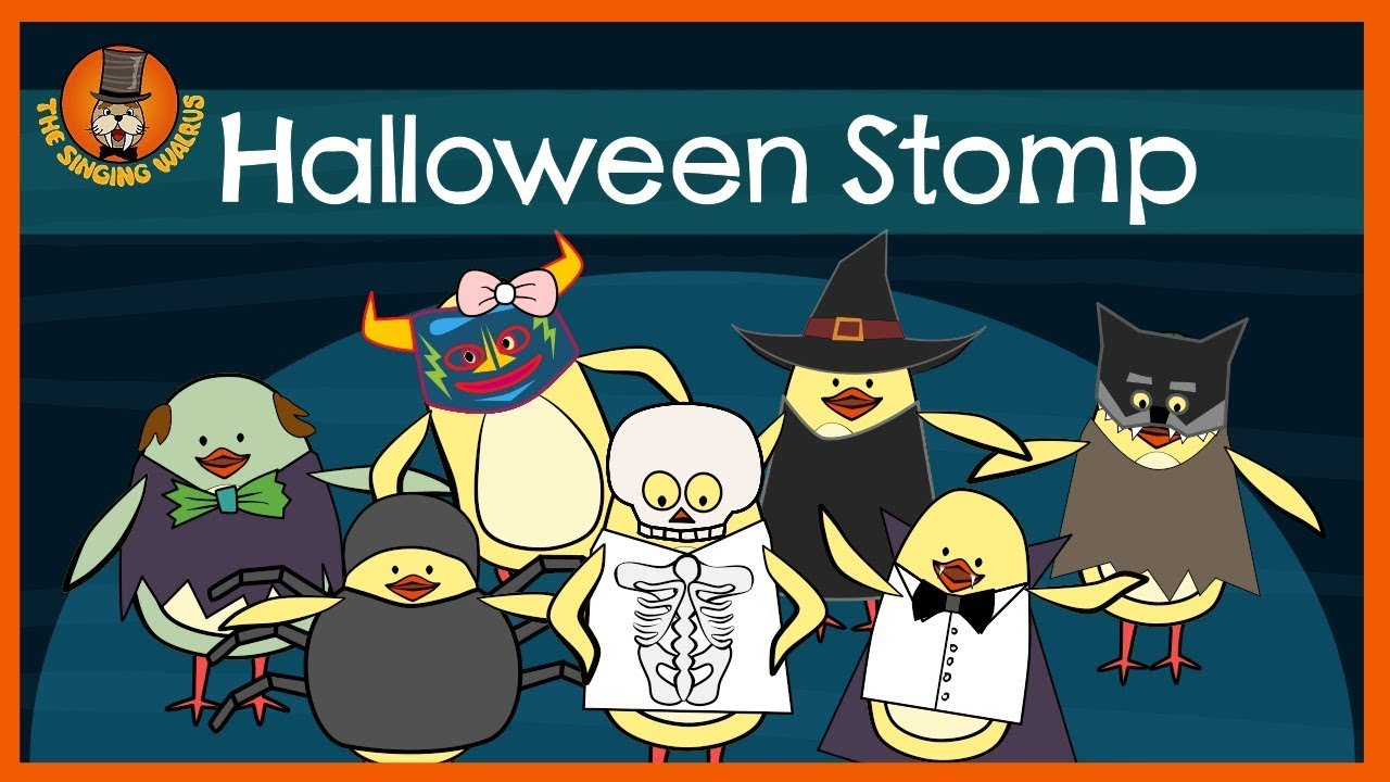 Halloween Stomp Halloween Song For Kids The Singing Walrus Youtube