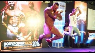 Bodybuilder John Lucas Dancing On Bollywood Songs @ Bodypower Expo 2016 Mumbai India [1080p]