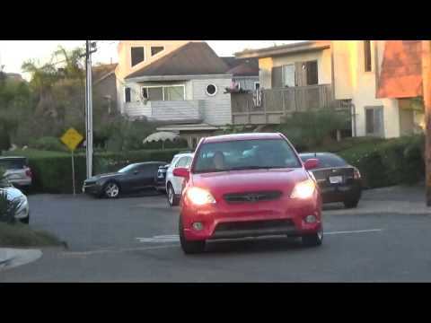 12. Corner Garfield/Juniper Ave. Bicyclist, RED car, Another RED car - 7/5/2014