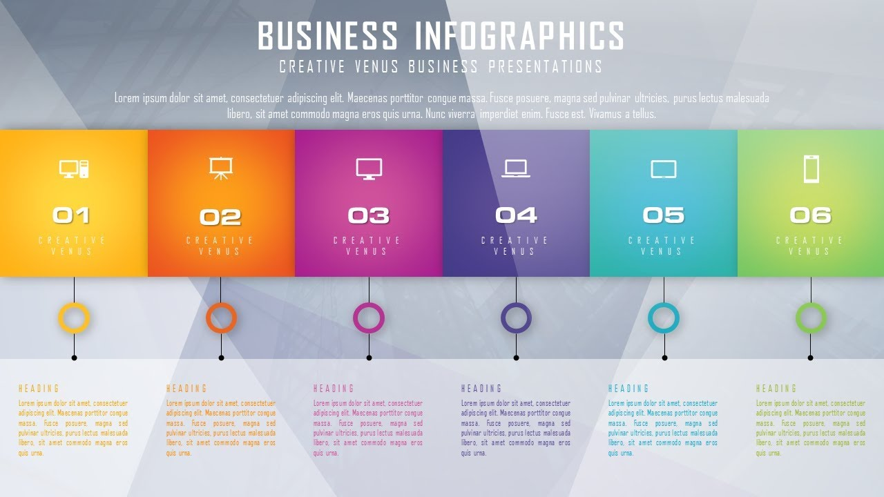 how to design beautiful business infographic in microsoft