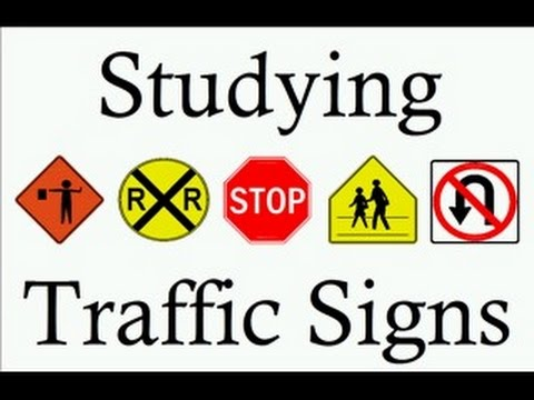 Learn Traffic Signs symbols studying teach free rules of the