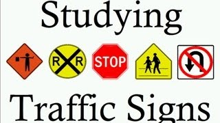 Learn Traffic Signs symbols studying teach free rules of the road dmv  US meanings learning lesson thumbnail