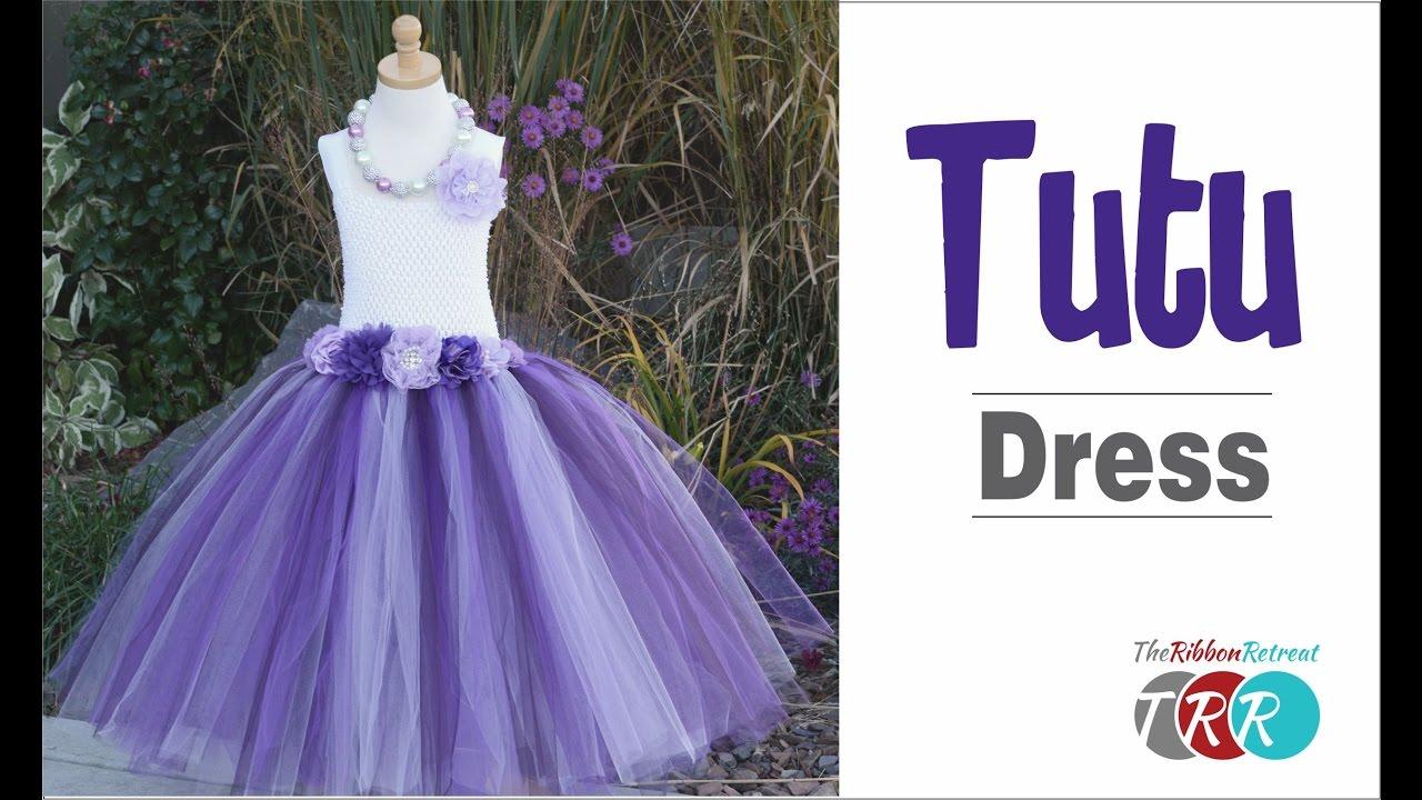 061f9b835 How to Make a Tutu Dress - TheRibbonRetreat.com - YouTube