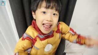 [2탄] 수상한 장난감 방에서 발견한 준 스페셜에디션으로 아이언맨 변신! 방탈출에 성공할 수 있을까요?