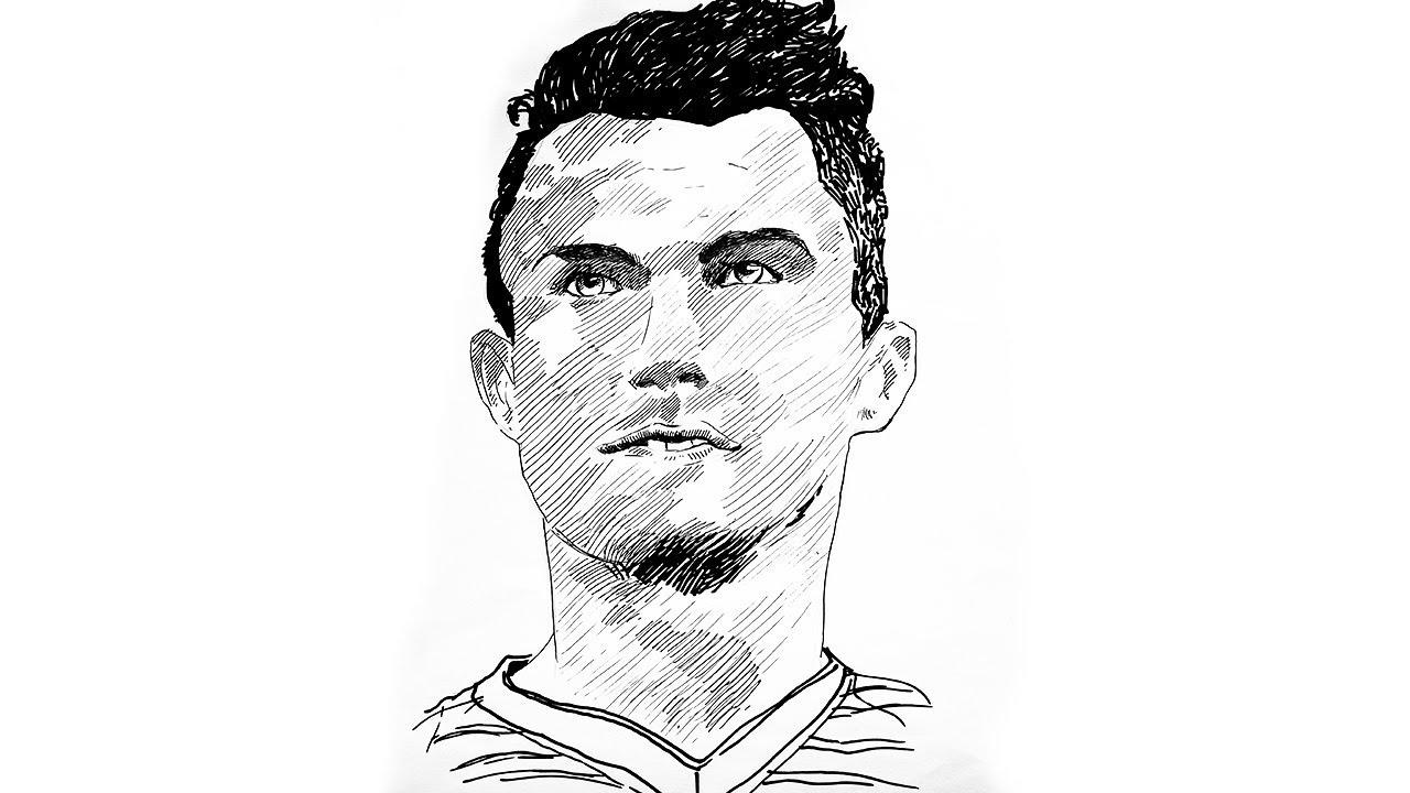 How to draw cristiano ronaldo drawing cristiano ronaldo sketch cristiano ronaldo pen drawing