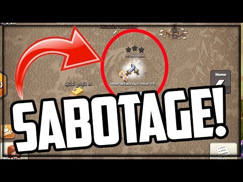 SABOTAGE - He TRIED To LOSE The Clan War In Clash Of Clans!