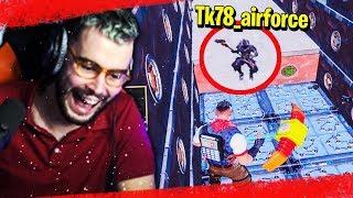 JE PRANK TK EN PLEIN PARCOURS DE LA MORT SUR FORTNITE !!! thumbnail