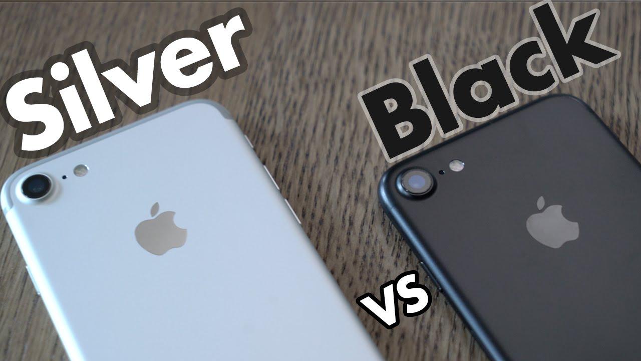 Iphone 7 Black Or White Matte Black Vs Silver Youtube