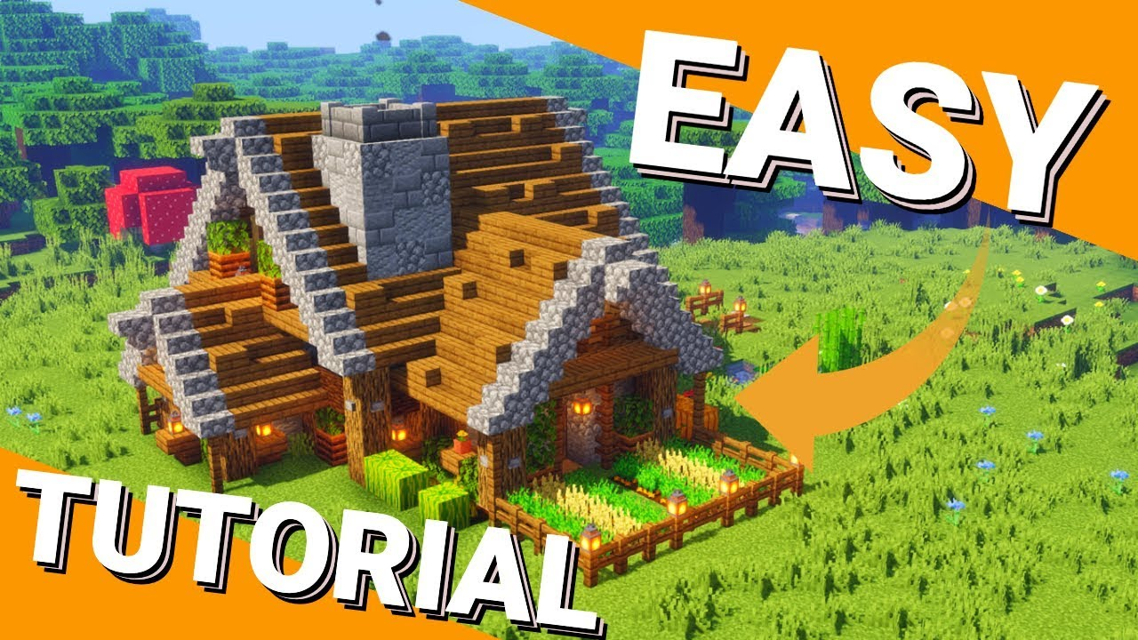 How To Build A Minecraft House Easy Small Rustic House Tutorial Minecraft 1 14 4 Avomance 2019 Youtube
