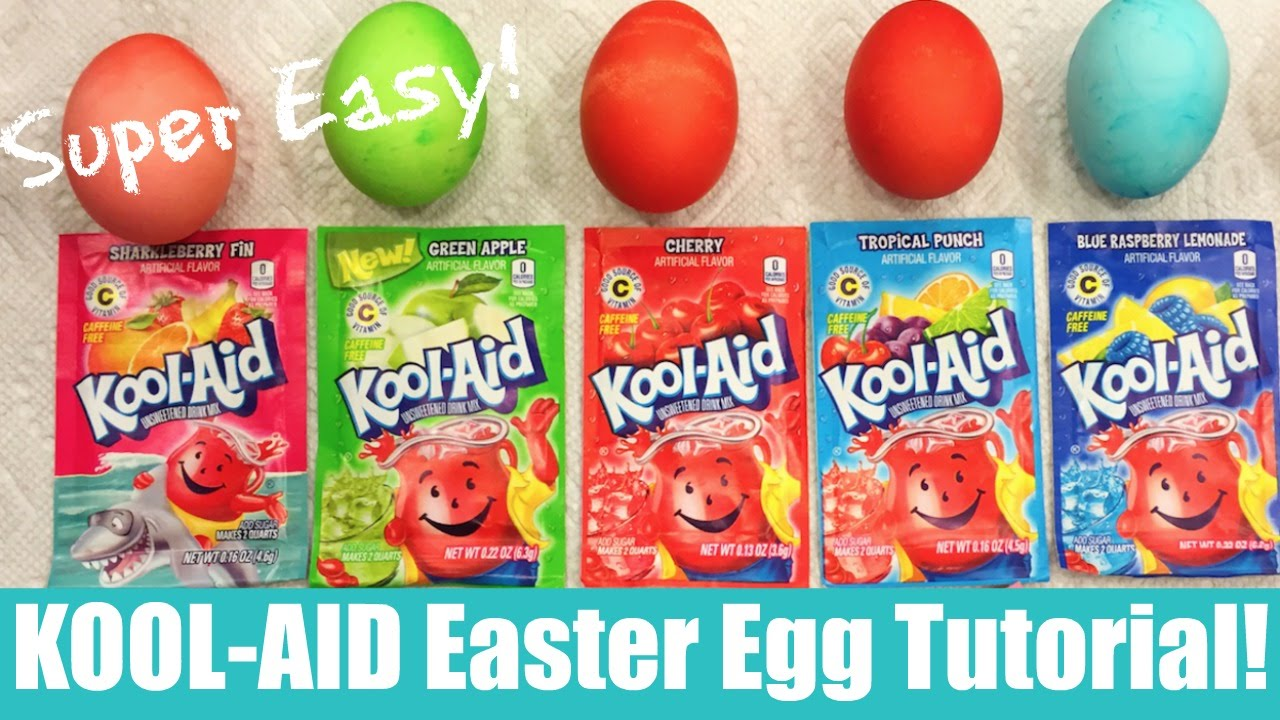 how to save money using kool aid to dye your easter eggs plus