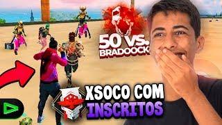 QUEM GANHA?! X1 SÓ NO SOCO BRADOOCK VS. INSCRITOS NO FREE FIRE