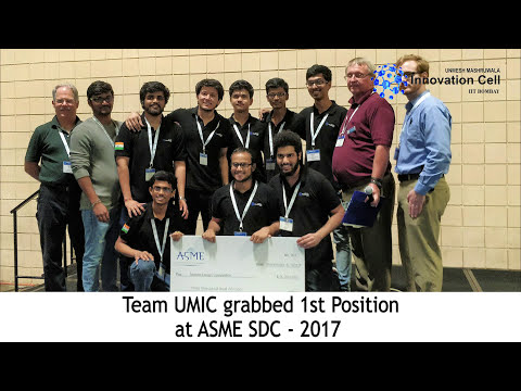 IIT Bombay Team Wins ASME's Student Design Competition-2017 World Final at Tampa, Florida