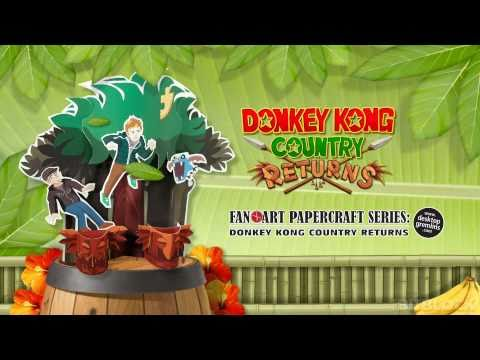 Donkey Kong Country Returns Paper Craft - Download In Description!
