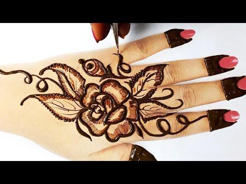 बहुत आसान फ्लावर  मेहँदी इस Lockdown में बनाना ज़रूर सीखे - 3 Stylish Flower Mehndi Design on Hands