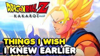 Things I Wish I Knew Earlier In Dragon Ball Z Kakarot (Tips & Tricks)
