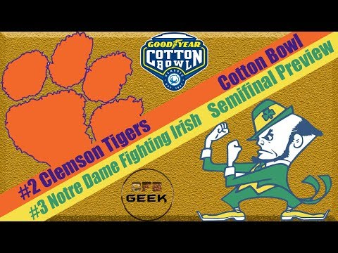 Clemson vs Notre Dame 2018 Cotton Bowl Preview and Predictions (sure to go wrong...)