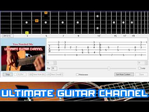 [Guitar Solo Tab] You Needed Me (Anne Murray)