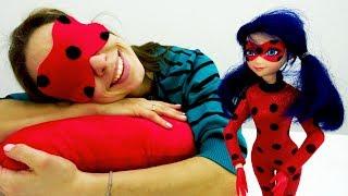 Супергеройская маска для сна, как у ЛедиБаг! Поделки своими руками