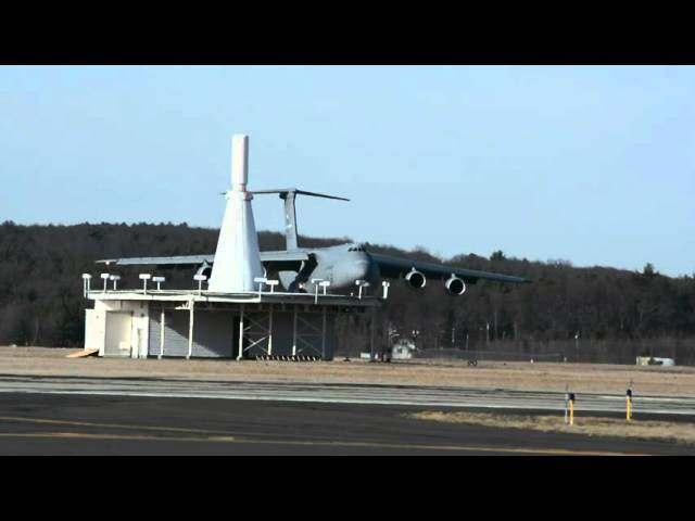 C-5M Super Galaxy   Landing at Westfield-Barnes Regional Airport [KBAF]