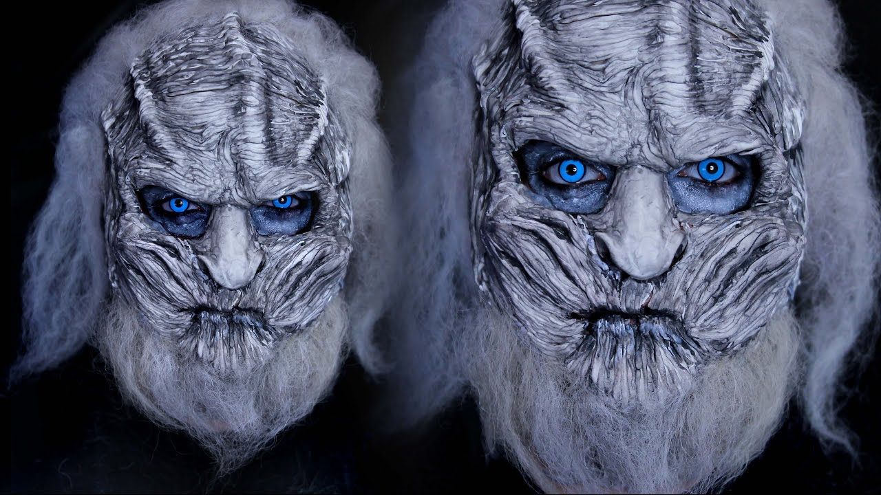White Walker Halloween Costume Makeup Tutorial