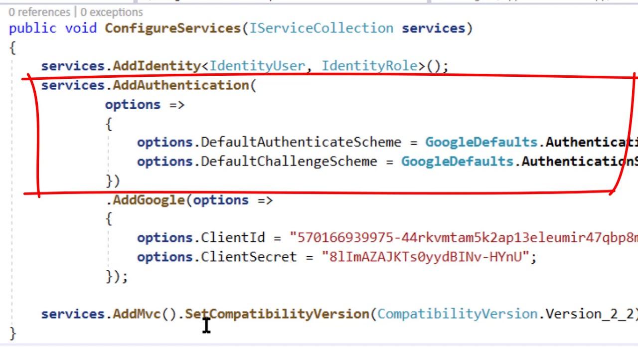 AspNetCore WebAPI - Google Authentication
