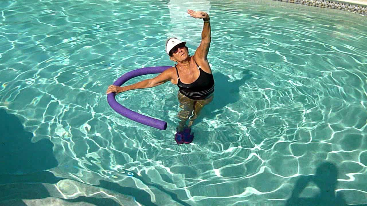 Sylvia 39 s water aerobic stretches cool down youtube - How to warm up swimming pool water ...