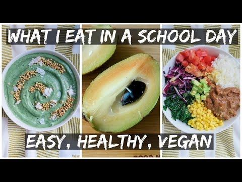 What I Eat In A School Day (VEGAN) || First Day of Graduate School!