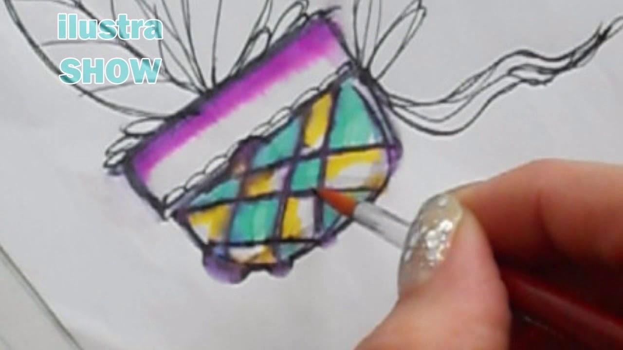 Tecnicas Para Dibujar: Acuarelas Diferentes Dibujos Y Mezcla De Técnicas Y
