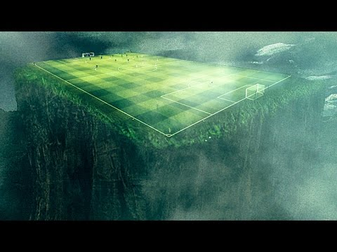Surreal Landscapes Soccer Field Photoshop Photo Manipulation - Photographer combines photoshops his own photos to create surreal landscapes