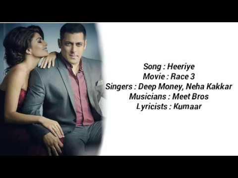 Download Lagu  Heeriye | Full al Song | Race 3 | Deep Money, Meet Bros & Neha Bhasin| Mp3 Free