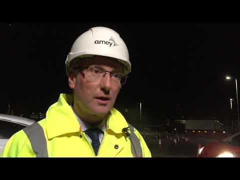 Nightworking on the Derriford Transport Scheme