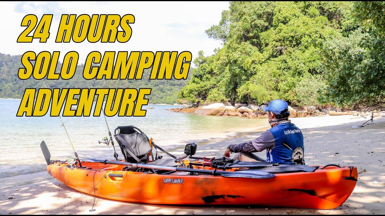 24 Jam Sendirian Di Pulau | Solo Camping Adventure | SUNSHINE Kayak GT