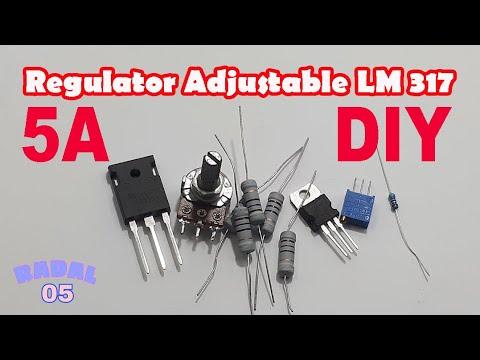 Cara membuat regulator adjustable 5A Ide Kreatif DIY Rangkaian Penurun Tegangan 24,12,5,3.3