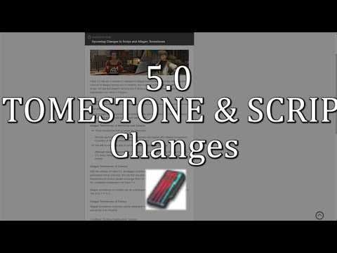 FFXIV: Changes To Allagan Tomestones & Scips In 5 0