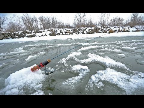 What Lives Under This Ice?? — Lake X Ice Fishing