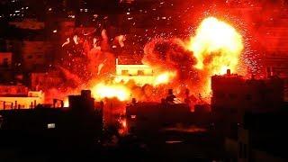 Israeli Air Strikes Hit Gaza After Rocket Fire, Hamas Tv Destroyed