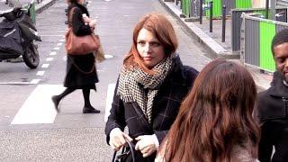 EXCLUSIVE: Elodie Frege attending C a Vous tv show in Paris