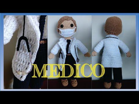 PDF Boneca Médica Amigurumi no Elo7 | @dalilamigurumi (112F3B4) | 360x480