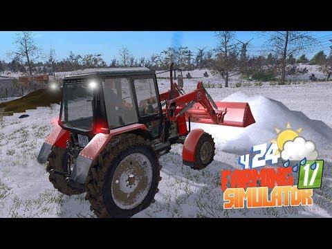 Farming Simulator 17 - СКВОЗНЯКИ и СНЕГ в коровнике! Куда пропали улья!? Зимний мод сезон на ферме