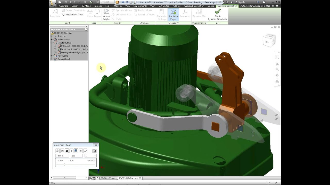 Autodesk Inventor Professional - Dynamic Simulation and analysis