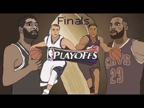 Golden State Warriors vs Cleveland Cavaliers (Animation)