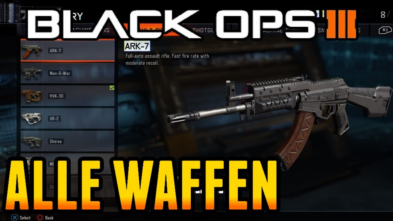 Black Ops 3: ALLE WAFFEN (BO3 BETA) | Call of Duty BO3 ...