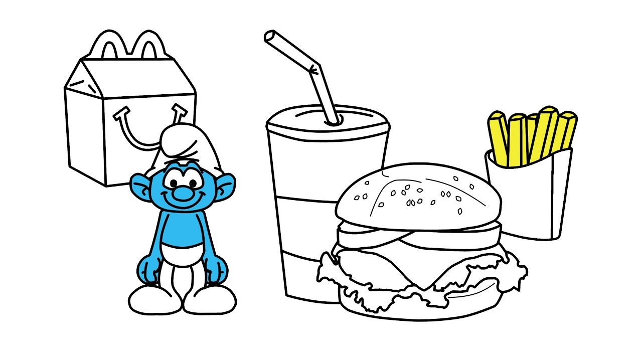 It is a graphic of Gorgeous mcdonalds coloring pages