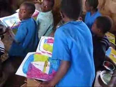 Cross River Gorilla School Art Class