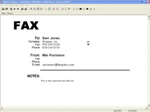 RightFax Outlook Email To Fax
