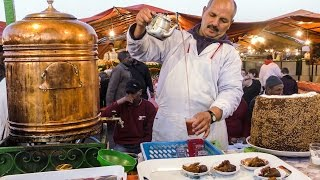 spiced tea and pastries of marrakech street food of morocco jemaa el fna square