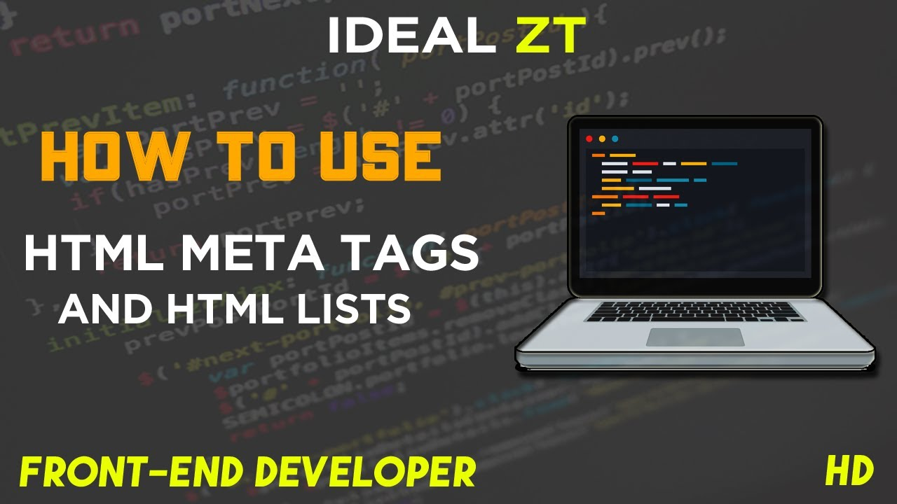 How to use HTML Meta Tags and HTML Lists - Front-End Developer - Urdu/Hindi