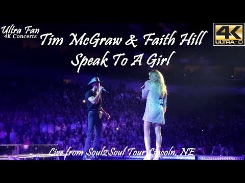 Tim McGraw & Faith Hill  Speak to a Girl  from Soul2Soul Lincoln, NE