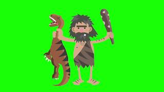 Caveman 3D Character Animation - Green Screen Footage Free